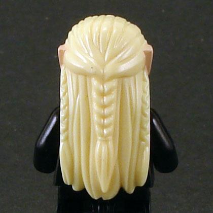 Bright Yellow Minifig LEGO Headgear Hair Long Straight w// Flesh Elf Ears