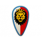 LEGO Minifig Shield - Ovoid with Royal Knights Lion Head Print