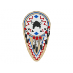 LEGO Minifig Shield - Ovoid with American Indian Print