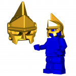 "LEGO ""Celestial Crown"" Helmet by Brick Warriors - HTF Colors!"