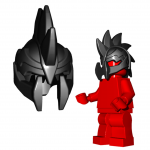 "LEGO ""Demon"" Helmet by Brick Warriors"