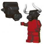 LEGO Minotaur Head by Brick Warriors, Black