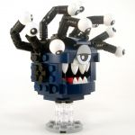 LEGO Beholder, Dark Blue with Black Eyestalks
