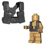 LEGO Shoulder Straps with Four Tall Belt Pouches, Stud on Back