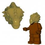 LEGO Lizardman Head, Dark Tan