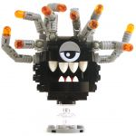 LEGO Beholder, Black with Gray Eyestalks, Gray Eyelid