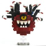 LEGO Beholder, Dark Red with Black Eyestalks, (Rare!) Narrowed Eyes
