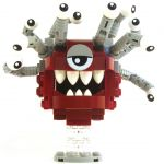 LEGO Beholder, Dark Red with Gray Eyestalks, White Eyes