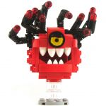 LEGO Beholder, Red with Black Eyestalks, Angry Eye