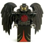 LEGO Aarakocra - Black Owl, Red Highlights
