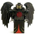 LEGO Aarakocra - Black Owl, Red Highlights