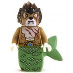 LEGO Sea Cat / Sea Lion, Dark Tan with Sand Green Tail