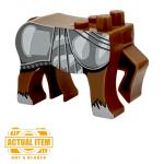 "LEGO Centaur Body, ""Charger"", Dark Brown, by Brick Forge"