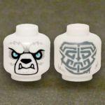 LEGO Head, Polar Bearkin, with Tribal Pattern on Reverse