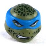 LEGO Head, Olive Green, Blue Mask