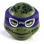 LEGO Head, Olive Green, Purple Mask