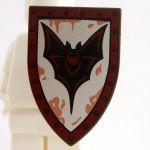 LEGO Shield, Large Triangular with Bat Design