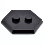 LEGO Hexagonal Minifigure Stand/Base, Black