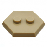 LEGO Hexagonal Minifigure Stand/Base, Dark Tan