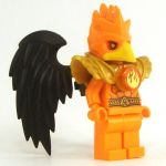 LEGO Aarakocra - All Orange with Black Wings, Male