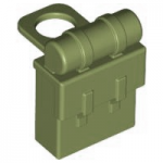 LEGO Minifig Backpack (Non-Opening), Khaki Green