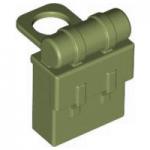 LEGO Minifig Backpack (Non-Opening), Khaki Green