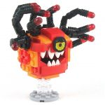 LEGO Beholder, Red and Orange, Eyestalks, Angry Eye