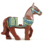LEGO Riding Horse with Persian Blanket Print, Brown
