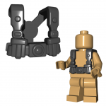 LEGO Shoulder Straps with Two Belt Pouches, Stud on Back