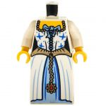 LEGO White and Blue Dress, Blue Stars and Bow