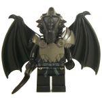 LEGO Half-Dragon, Black (Half-Black Dragon Veteran), Pointed Tail