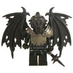 LEGO Half-Dragon, Black (Half-Black Dragon Veteran), Tattered Wings