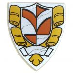LEGO Shield, Triangular with Coat of Arms Design