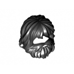 LEGO Hair with Beard and Mouth Hole, Black
