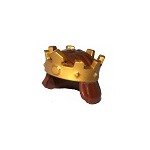 LEGO Gold Crown With Mid-Length Hair