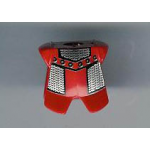 LEGO Breastplate with Leg Protection, Red with Chain Mail Print