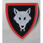 LEGO Minifig Shield - Triangular with Wolfpack Print