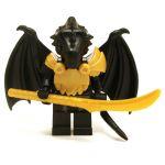 LEGO Half-Dragon, Black (Half-Black Dragon Veteran), v2