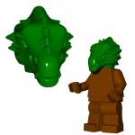 LEGO Lizardman Head, Green