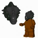LEGO Lizardman Head, Black