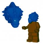 LEGO Lizardman Head, Blue