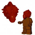 LEGO Lizardman Head, Dark Red