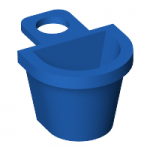LEGO Minifig Container - D-Shaped Basket, Blue