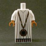 LEGO White Robe with Large Medallion
