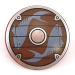 LEGO Round Shield with Rounded Front, Fish Pattern