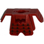 LEGO Asian-style armor, Dark Red with Black Pattern