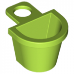 LEGO Minifig Container - D-Shaped Basket, Lime Green