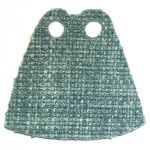 LEGO Custom Cape / Cloak, Green with Heavy Woven Texture
