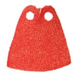 LEGO Custom Cape / Cloak, Red With Gold Sparkles