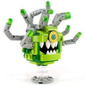 LEGO Beholder, Greens with Gray Eye Stalks, Crazy Eye